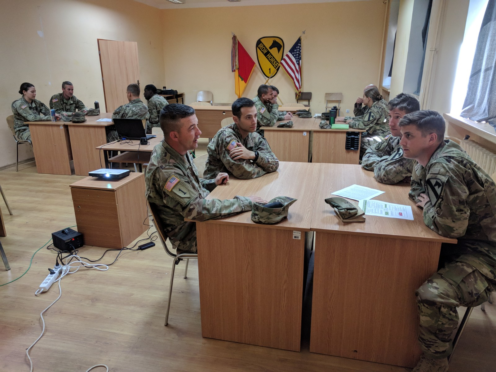 Officers and NCOs from the 1st Armored Brigade Combat Team, 1st Cavalry Division, discuss the challenges when strong-willed leaders clash at the platoon and company level.